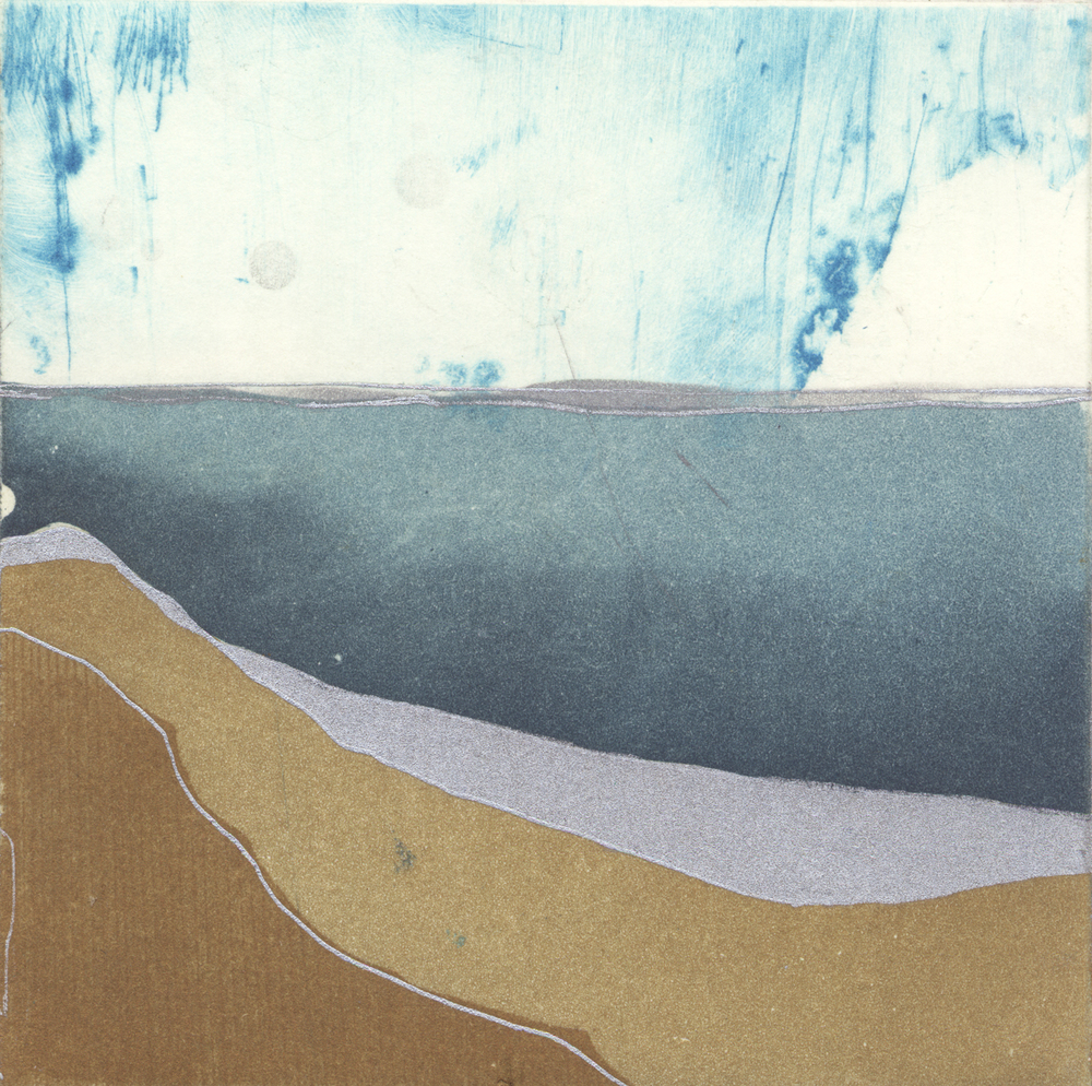 … looking towards a lonely sea  etching, 10 x 10 cm