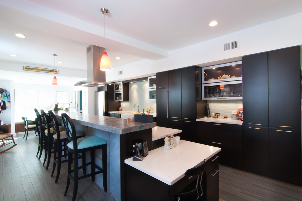 Ample storage and a workspace were must-haves in the Hogan kitchen.