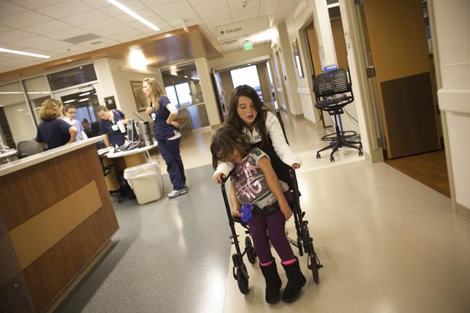 Strolling the hospital floors