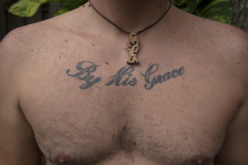 Tattoo, 'By His Grace', Saint Augustine, FL, 8/30/18