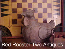 Red Rooster Two Antiques