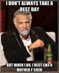 A great rest day strategy! I don't always write two part blog posts....but when I do I make sure they are published way too far apart. Thanks for the patience. Enjoy. -Justin
