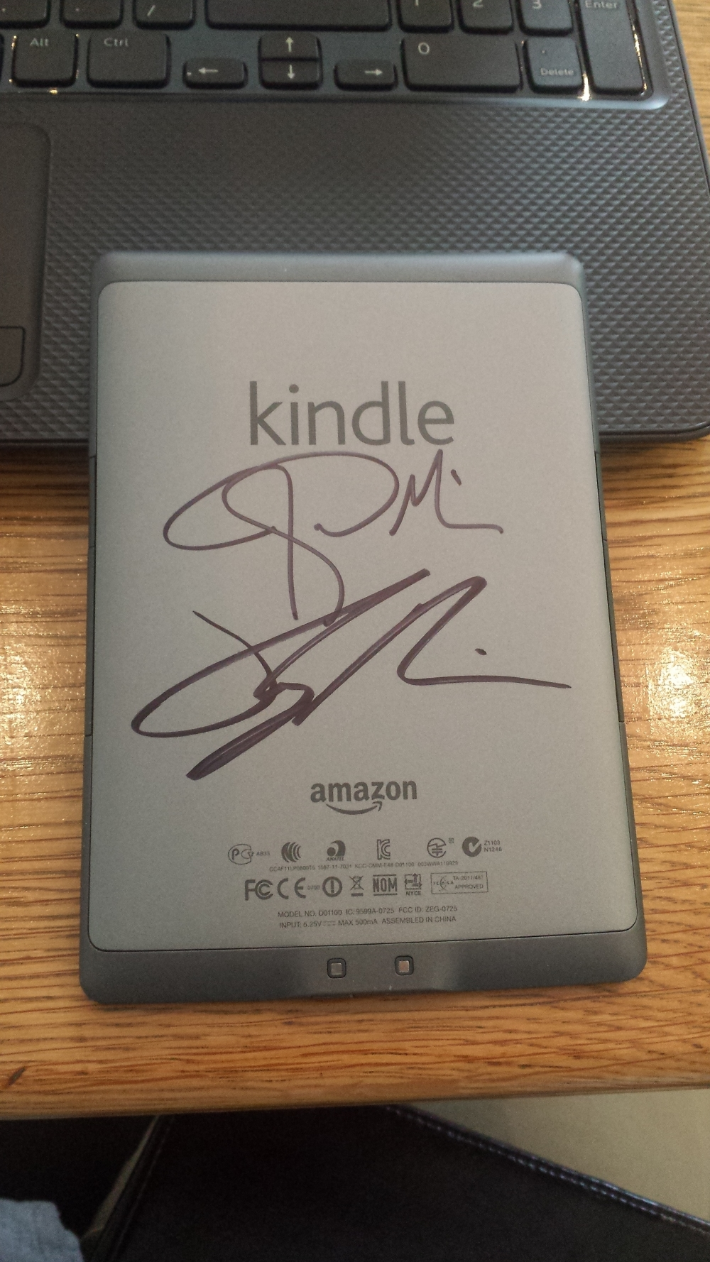 I asked Joshua and Ryan to sign my Kindle rather than a copy of the book. Seemed fitting as that is where I read Everything That Remains.