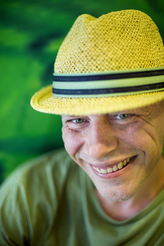 Stian Valvik (38) på danskebåten mot København. Foto: Cicilie S. Andersen