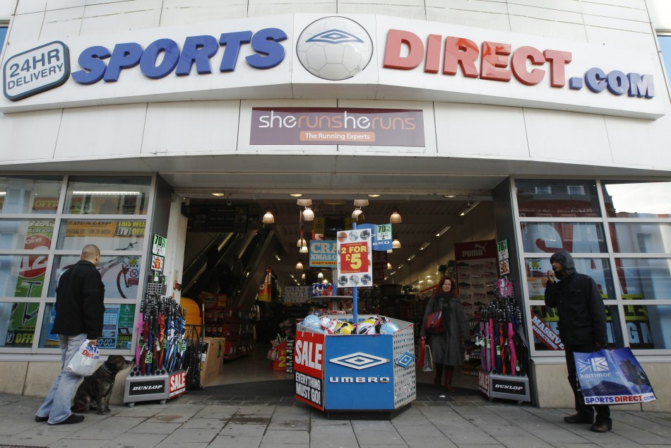 Massive stores fill British high streets. Sports Direct is guilty of conning customers too with its constant 'closing down' sales and faux-discounts.