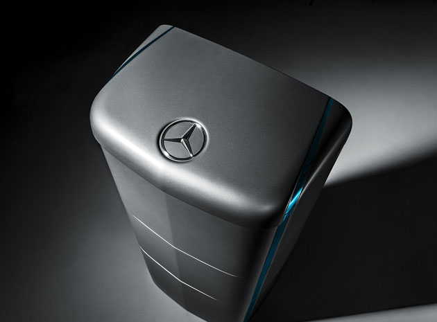 Mercedes-Benz going for pedal bin chic with their home battery offering.
