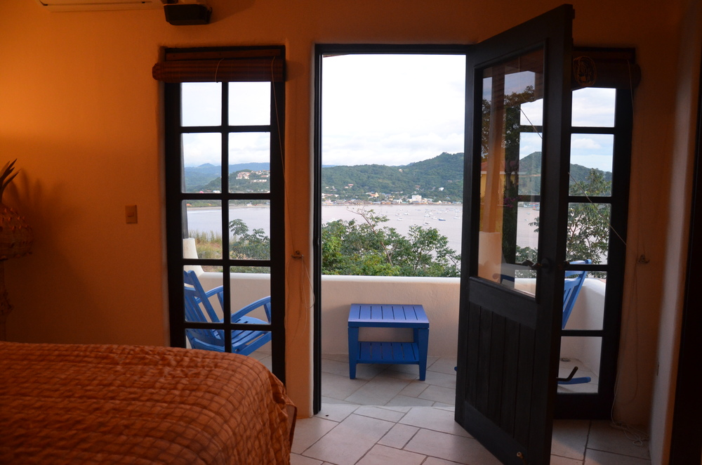 Views of town from Bedroom 1 of Villa Noche
