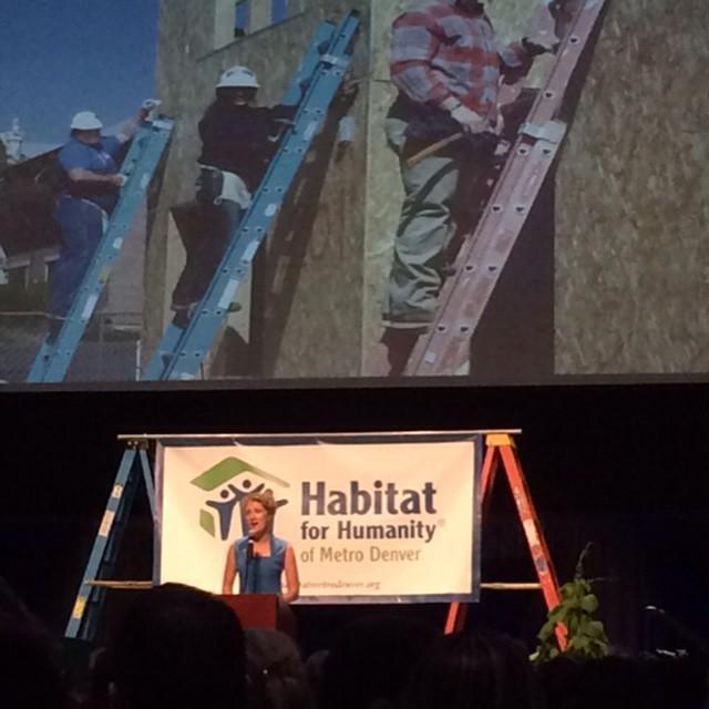 Watching Heather Lafferty at the Habitat Breakfast this morning.  So inspiring what Habitat has achieved this year! #Habitat #Nonprofit #Denver #HYP