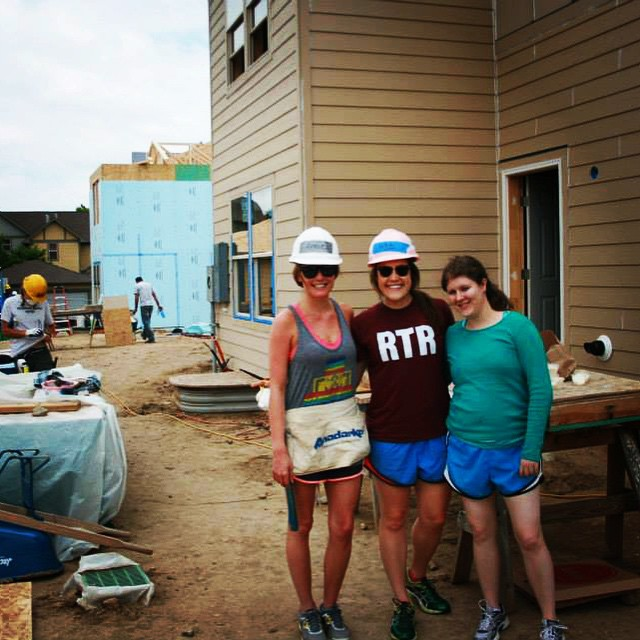 A few of HYP's dedicated leadership team members getting their hands dirty on a build day. #HYP #Nonprofit #habitatforhumanity #youngprofessionals #youngpros