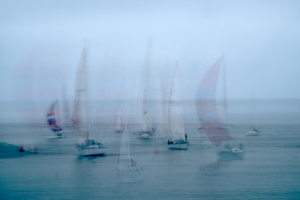 Regatta night at the Santa Cruz Harbor