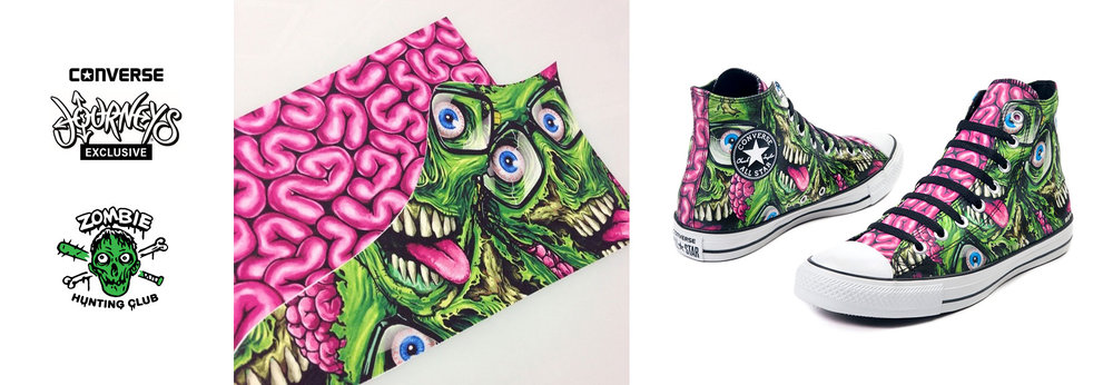 Converse Zombie Chuck ( designed shoe pattern / logo graphic)