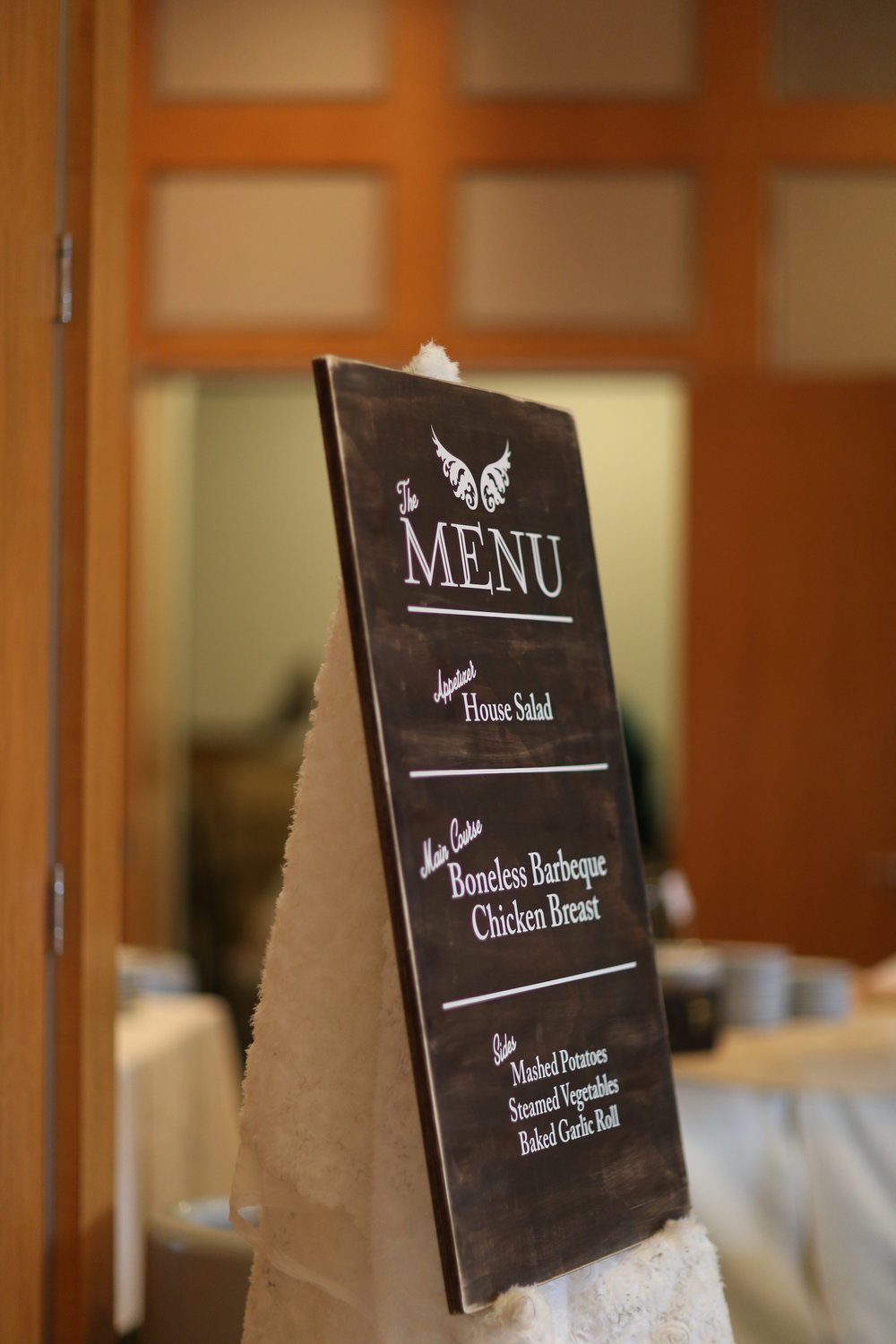 Hand crafted Menu sign also by my brother, Petra Pream