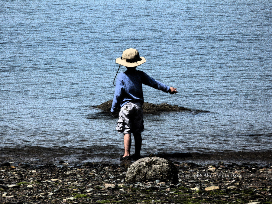 small boy on beach