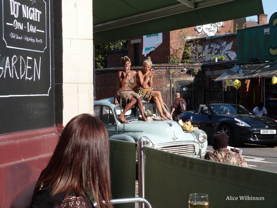 2 ladies at Camden Market