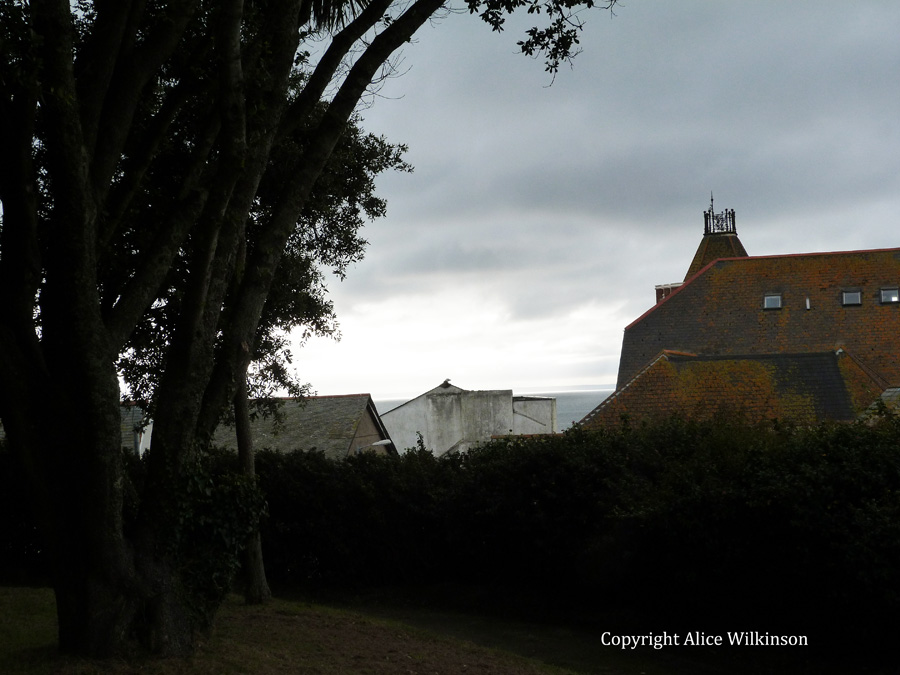 evening in churchyard
