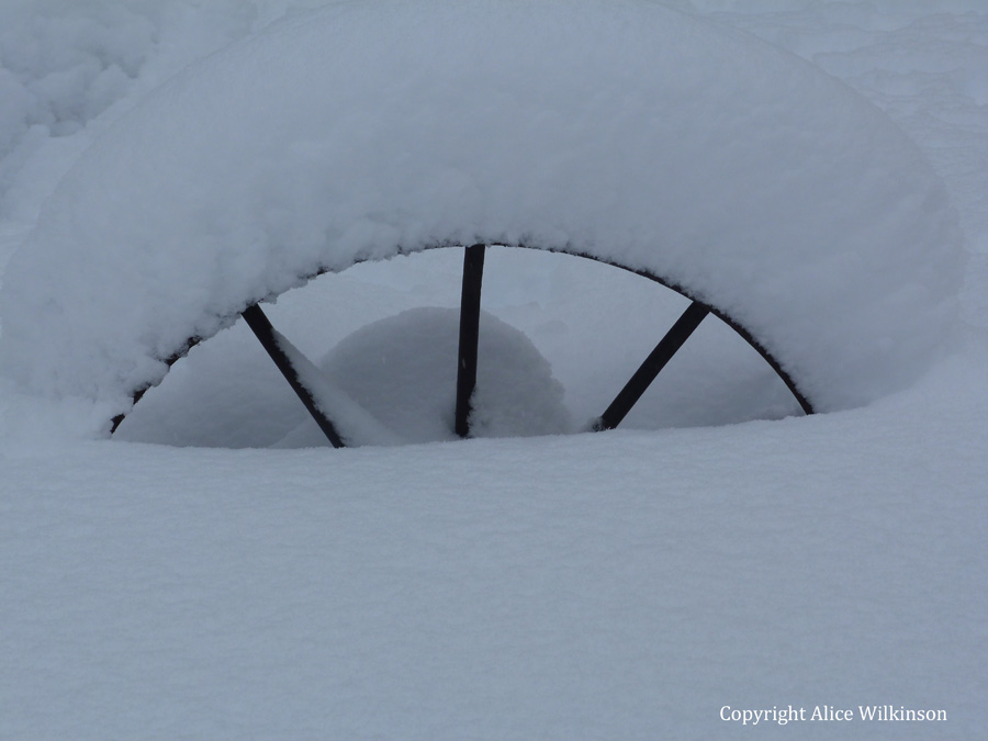 another wheel and snow