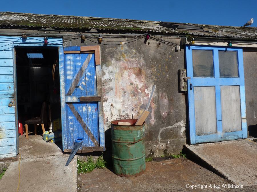 2 blue doors