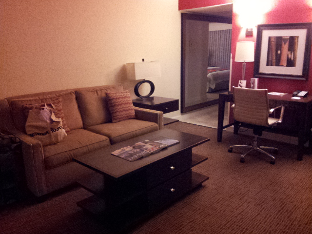Separate study area in the Marriott Delray Beach suite