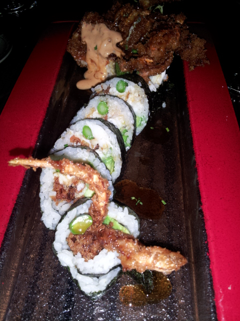 Tempura Roll at Buddha Sky Bar Delray Beach