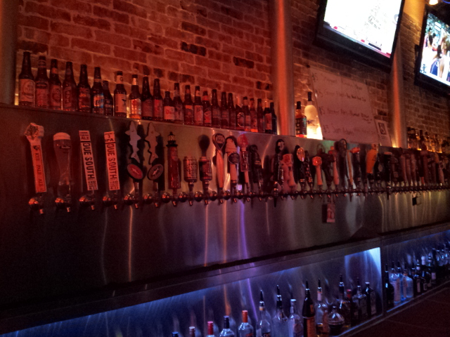 Beers on tap at Mellow Mushroom
