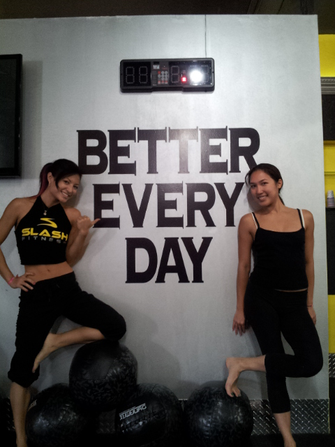 Post-yoga class at Slash Fitness with Jessica Om