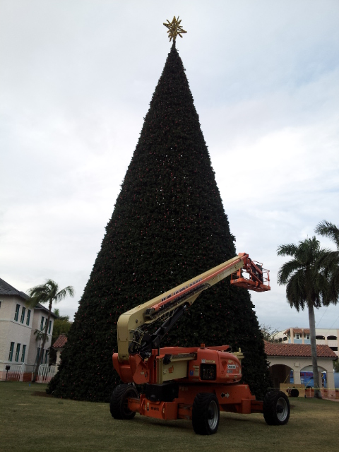 100 ft Christmas tree Delray Beach