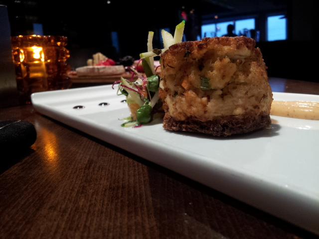 Mmmm... crab cakes at 50 Ocean