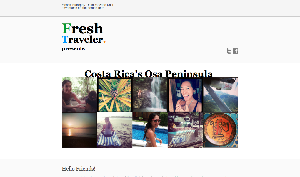 Costa Rica Newsletter Preview