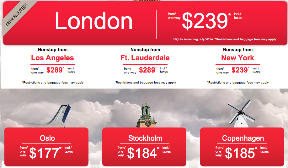 Norwegian Air Shuttle's new direct US-Europe routes launch in July 2014!