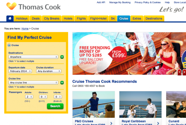 Cruise Thomas Cook
