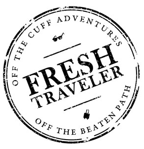 FreshTraveler logo - off the cuff adventures, off the beaten path