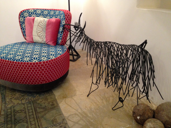 Iron Sheep Art at  The Efendi Hotel  in Akko