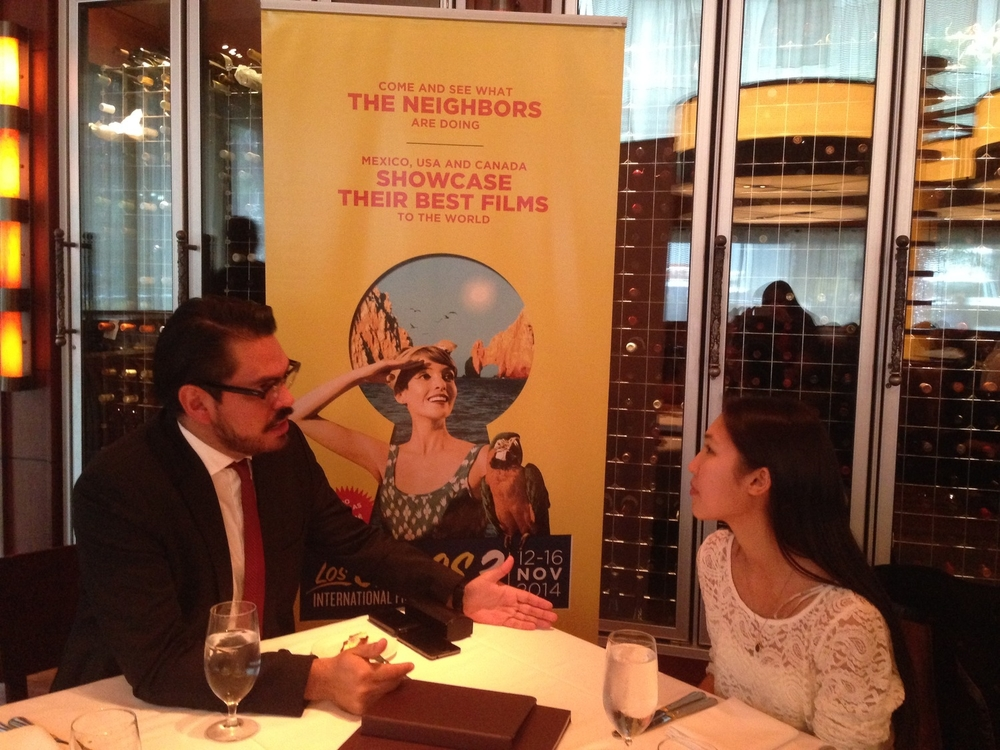 Having lunch with Alonso Aguilar-Castillo, the General Director of The Los Cabos International Film Festival.