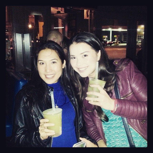 Hanging out with my best friend  @kwunny  and an alcoholic boba drink from  Chino  in the Mission District called  Boba Fett  (vodka, apple, ginger, thai basil and lemon) - what else can be better?