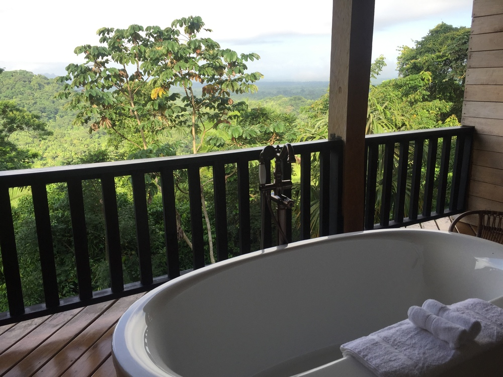 There was even an outdoor bathtub on our balcony!