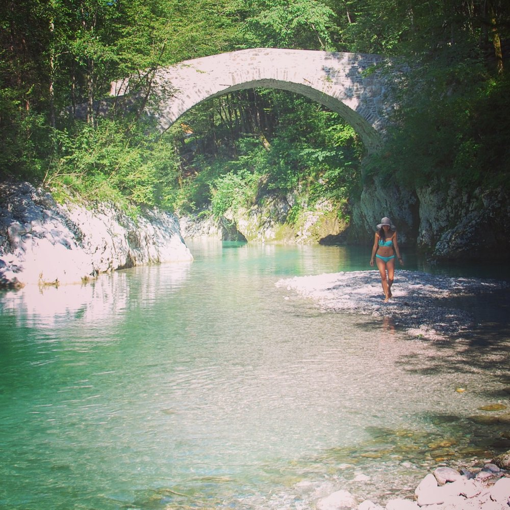 Another great hidden spot to hang out was   Nadiža Stream   along the Italian-Slovenian border.