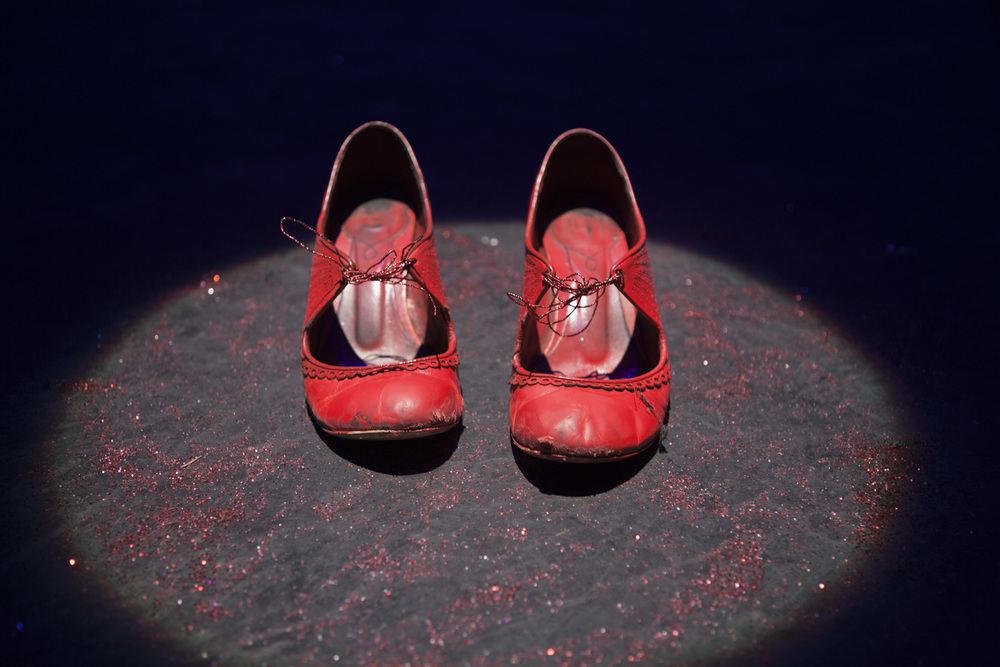 These are the last red shoes I danced in at the Tramway in December 2013.