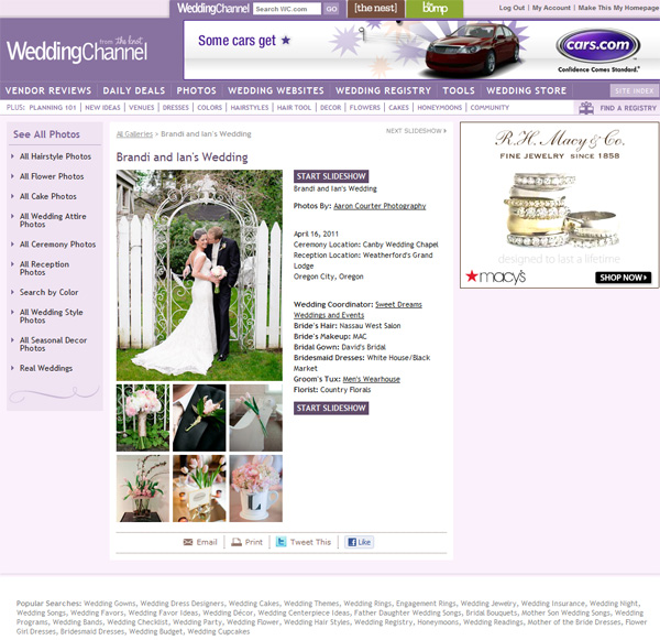 wedding channel featured canby oregon
