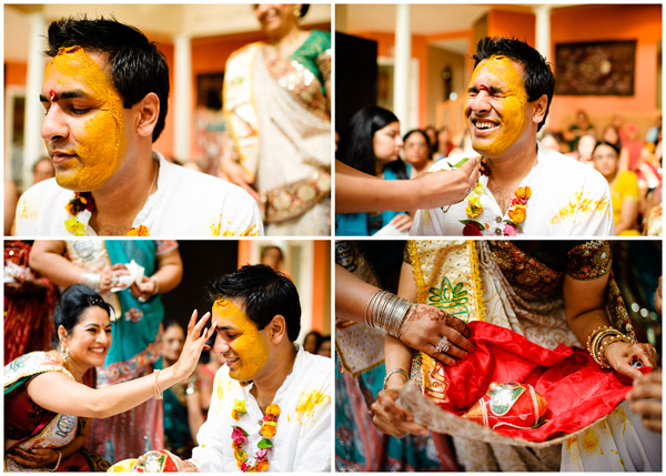 satak ceremony groom yellow