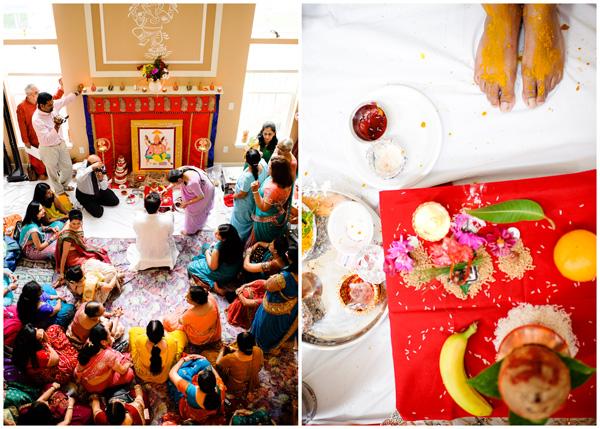 hindu ceremony overhead