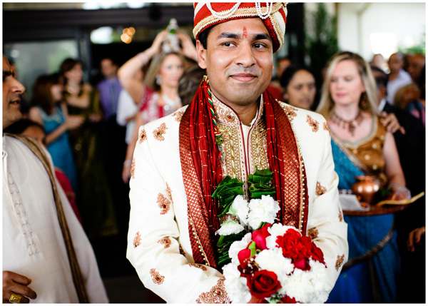groom waiting to enter hindi ceremony