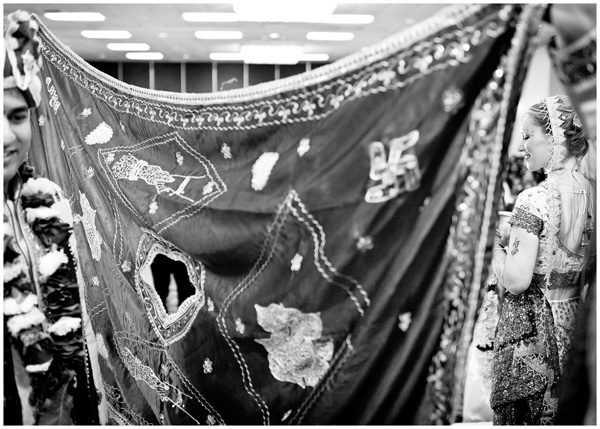 black white indian ceremony blanket separation