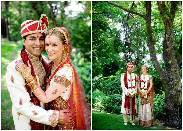 bride groom indian portrait outdoor