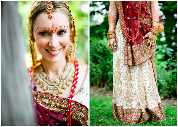 bride portrait decorated indian ceremony photography