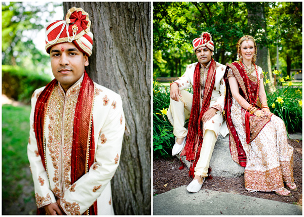 photo of indian groom portrait