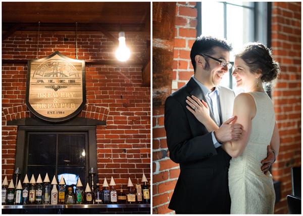 brick portland portrait wedding bridgeport brew