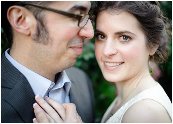 closeup portland bride portrait