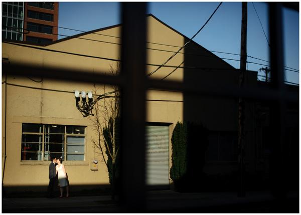 reflection shadow portrait portland wedding creative