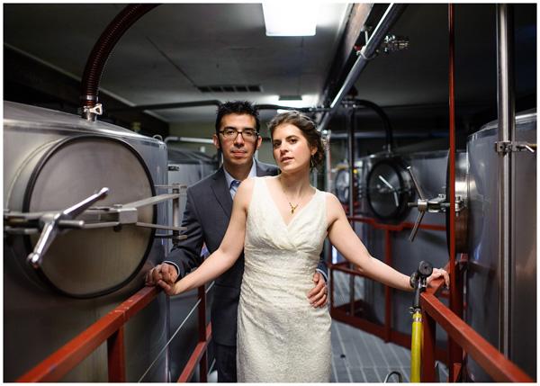 bridgeport oregon brewery wedding portrait