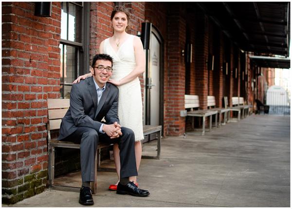 portrait portland bride groom brick bridgeport